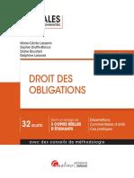 Partiels blancs Semestre 2, 2019 - Droit Des Obligations - Annales d'Examen