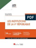 Partiels blancs Semestre 2, 2019 - Les Institutions de La Ve République - Annales d'Examen