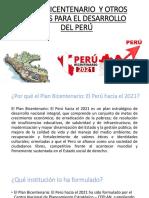 Plan Bicentenario y Otros Planes Para El Desarrollo