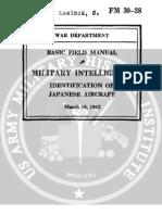 Identification of Japanese Aircraft (1942) FM 30-38-2