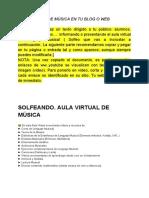 Aula Virtual de Música en Tu Blog o Web