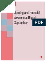 Banking and Financial Awareness September 2018