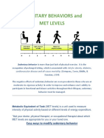 met levels and fighting sedentary behaviors