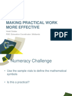 Making Practical Work More Effective _ Salters 2019