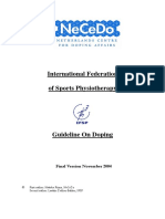 IFSP Guideline on Doping Final Version 5-11-2004