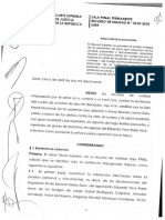 Resolución de nulidad que absolvió a Daniel Urresti por el asesinato del periodista Hugo Bustíos