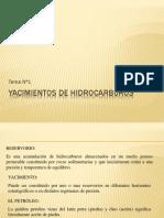 Tema 1 Yacimientos de Hidrocarburos