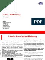 B2B Marketing Group 7 Toshiba