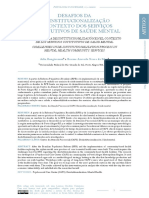 DESAFIOS DA DESINSTITUCIONALIZAÇÃO NO CONTEXTO DOS SERVIÇOS SUBSTITUTIVOS DE SAÚDE MENTAL - Bongiovanni e Silva
