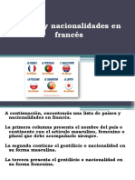 Países y Nacionalidades en Francés