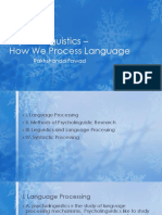 Psycholinguistics – Language Processing