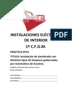 Practica 21 Instalación de Alumbrado Con Automático de Escalera