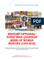 World History Topic Wise Question Bank 1979 2018