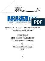 RFID Based Inventory Management Model SCM SP-19 Assignment-Muhammad Saad 8210
