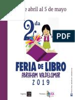 Programa Feria de Libro Abraham Valdelomar 2019