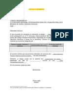 Carta de Presentación REFERENCIAL