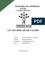 Ley 1834 Mercado de Valroes