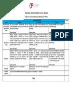 Rúbrica de Evaluacion de Ejercicio de Redaccion Reflexiva