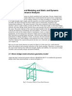 Structural Modeling and Static and Dynamic Mechanical Performance Analysis