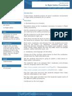 Flight safety procedures lesson plan English
