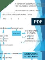 Casuistica Sobre Quejas y Reclamos...... Boris Macazana López