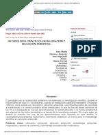 Metodología Científica en Valoración y Selección Ambiental