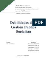 Trabajo-Debilidades de La Gestion Publica Socialista-Unidad II-Grupo 4