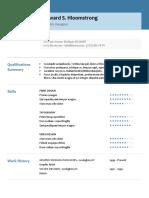 Resume Format - Glimmer