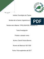 Investigación Tipologia Del Producto