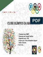 Cartaz Osmar Cunha Clube Olimpico