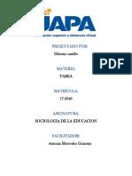 Tarea Sociologia d a Educacion 6y7