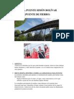 Visita Puente Simón Bolívar