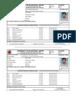 University of Rajasthan Admit Card