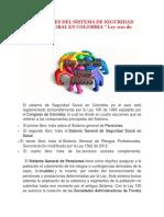 Componentes Del Sistema de Seguridad Social Integral en Colombia