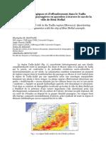Risques Hydrologiques Et d'Effondrement Dans Le Tadla Les Dynamiques Paysagères en Question à Travers La Cas de La Ville de Béni Mellal