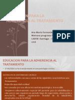 Gran Rex 2016 Lic. Fernández Sarmiento 2 Educación Para La Adherencia Al Tratamiento Del HIV