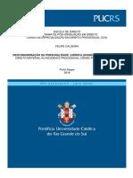 TCC - Felipe Caldeira - Desconsideração da Personalidade Jurídica (Disregard Doctrine)