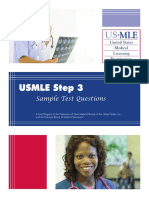 Step 3 Sample Questions 2015