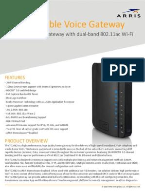 Arris modem | Voice Over Ip | Wi Fi