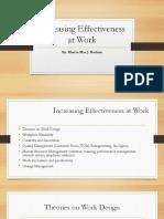 Increasing Effectiveness at Work
