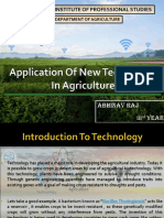 Introduction to New Technology in  Agriculture