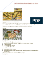 Batatas assadas no estilo mediterrâneo