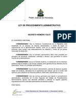 Ley de procedimiento administrativo Honduras