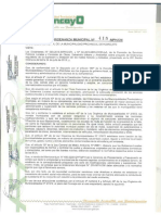 Ordenanza Municipal Huancayo-ruidos