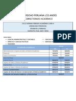 Calendario Académico 2019 Presencial Upla