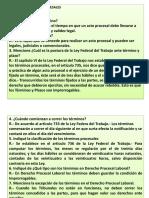 Derecho Procesal Laboral Terminos Procesales