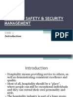 Powerpoint Presentation on CUSTOMER SAFETY & SECURITY MANAGEMENT