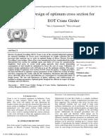 Design of Optimum Cross Section for EOT Crane Girder