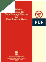 Blood Storage Book