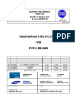 &SE-00-L-SD 1001 Engineering Specification for Piping Design
